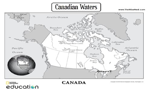 Bodies Of Water Canada Map.Canadian Waters The Wise Nest
