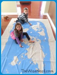 kids on map