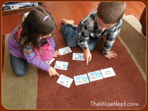 kids with cards