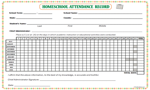 attendance record the wise nest