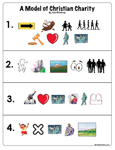 Picture Cards Download Below A Model Of Christian Charity